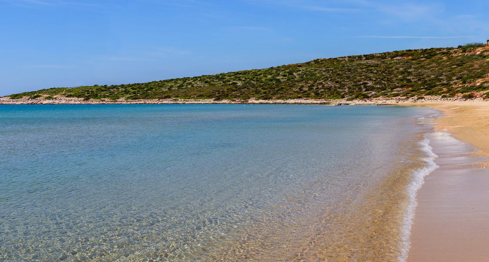 Paros sandy beach