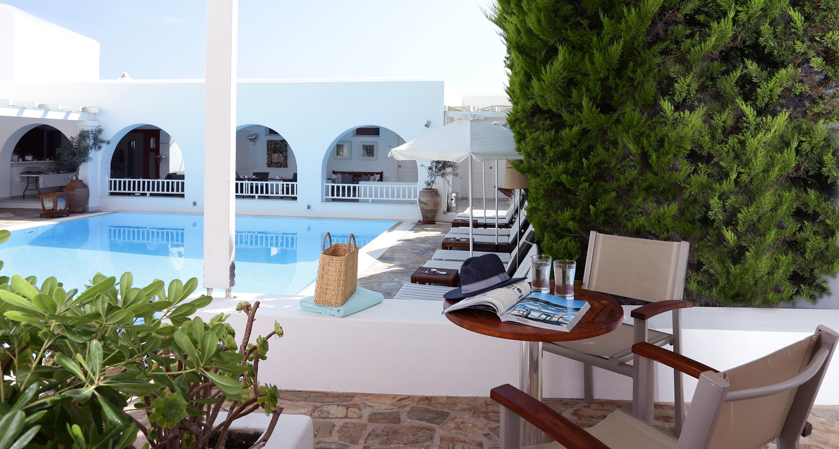 Stelia Mare Hotel in Paros – Room with pool view