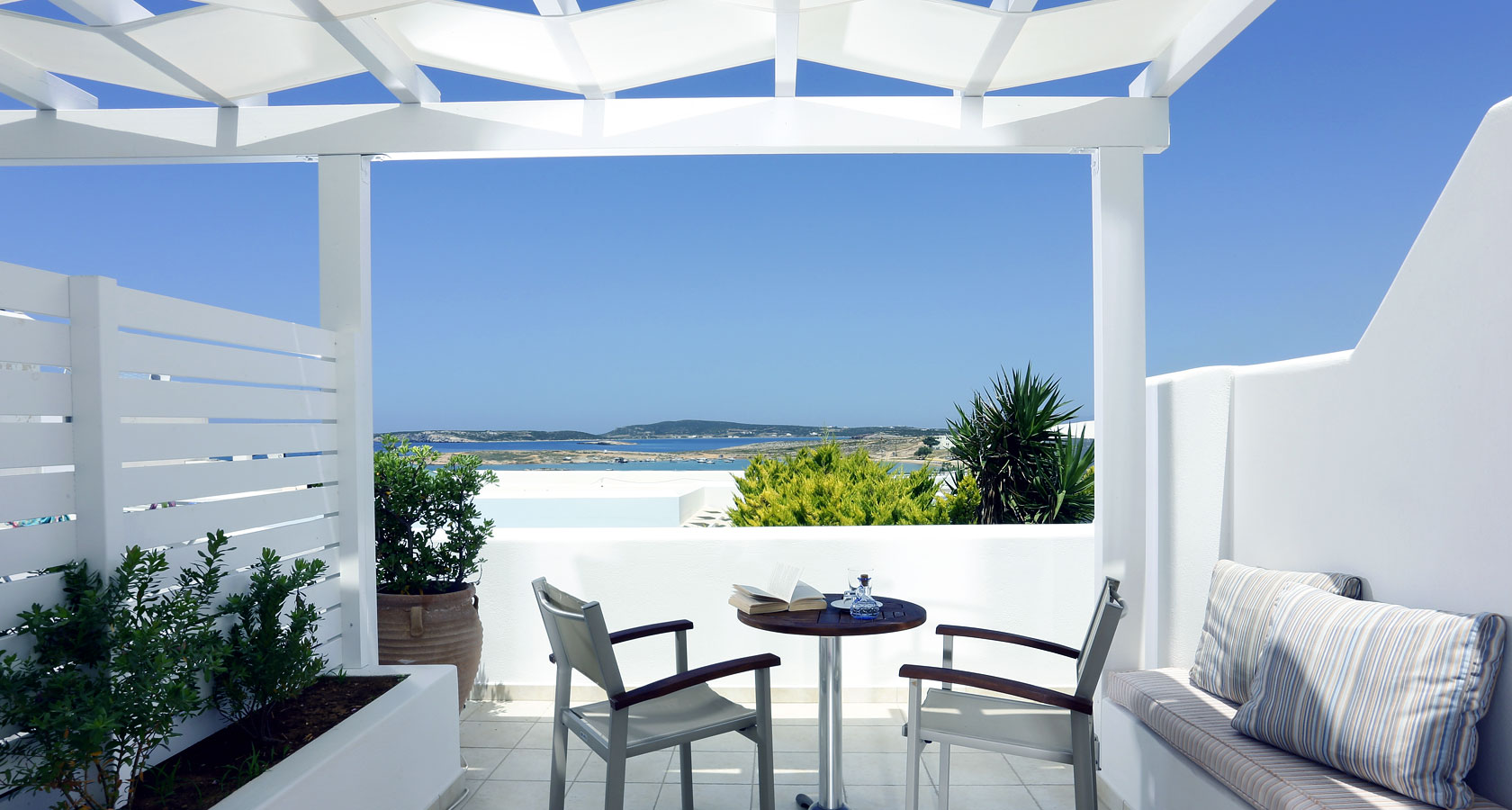Sea View from Stelia Mare Hotel in Paros Greece