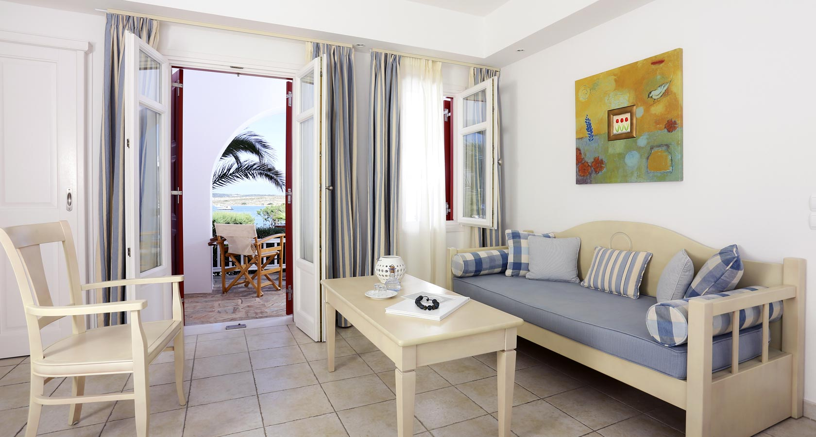 Paros Accommodation in Junior Suites - Stelia Mare Hotel Naoussa Paros Greece