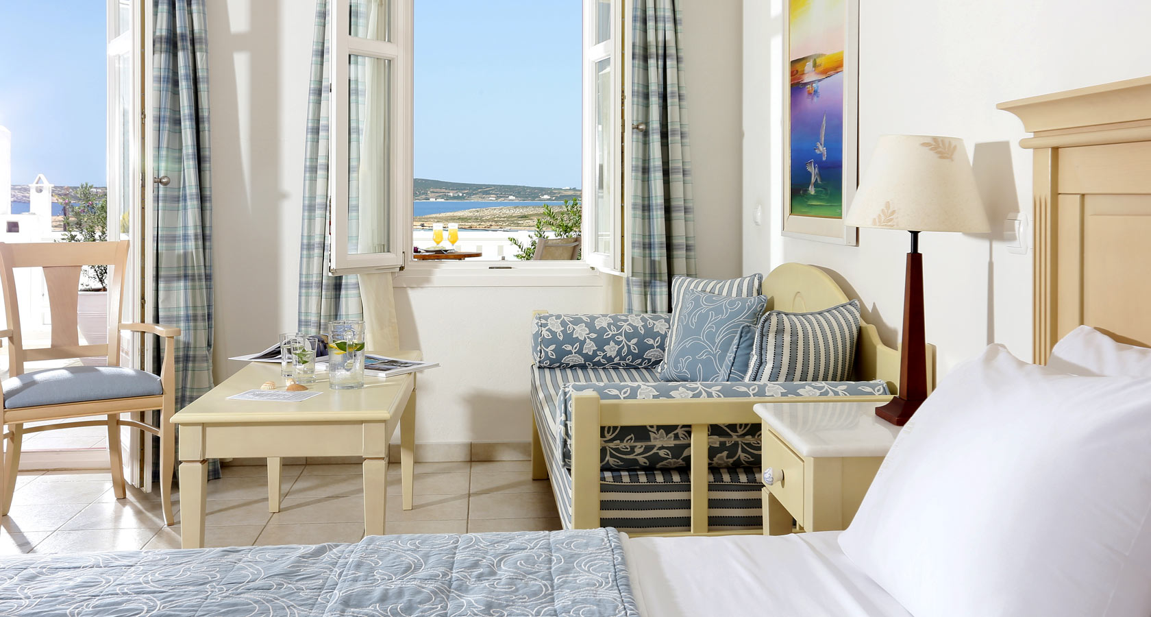 Paros Accommodation in Superior Suites - Stelia Mare Hotel Naoussa Paros Greece