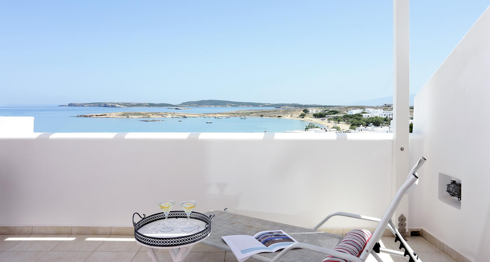 Sea view from a suite balcony in Naoussa Paros