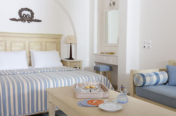 Interior of a Junior Suite in Naoussa Paros