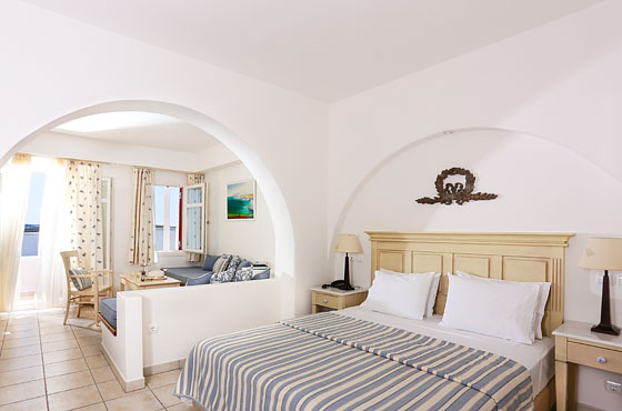 Interior of a Superior Suite in Naoussa Paros