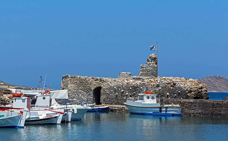 The Famous Venetian Fortress in Naoussa, Paros, Greece