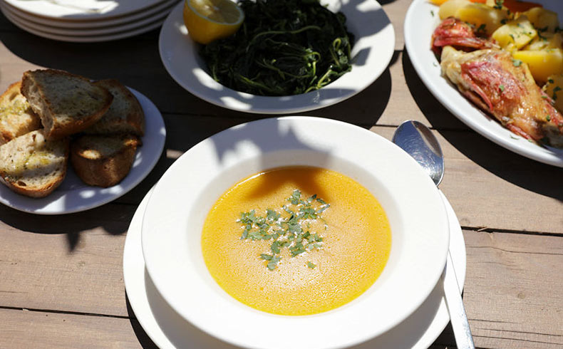 Greek Fish Soup - Paros Restaurants