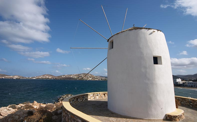 Windmills of Paros Greece